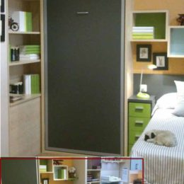 Cama plegable vertical